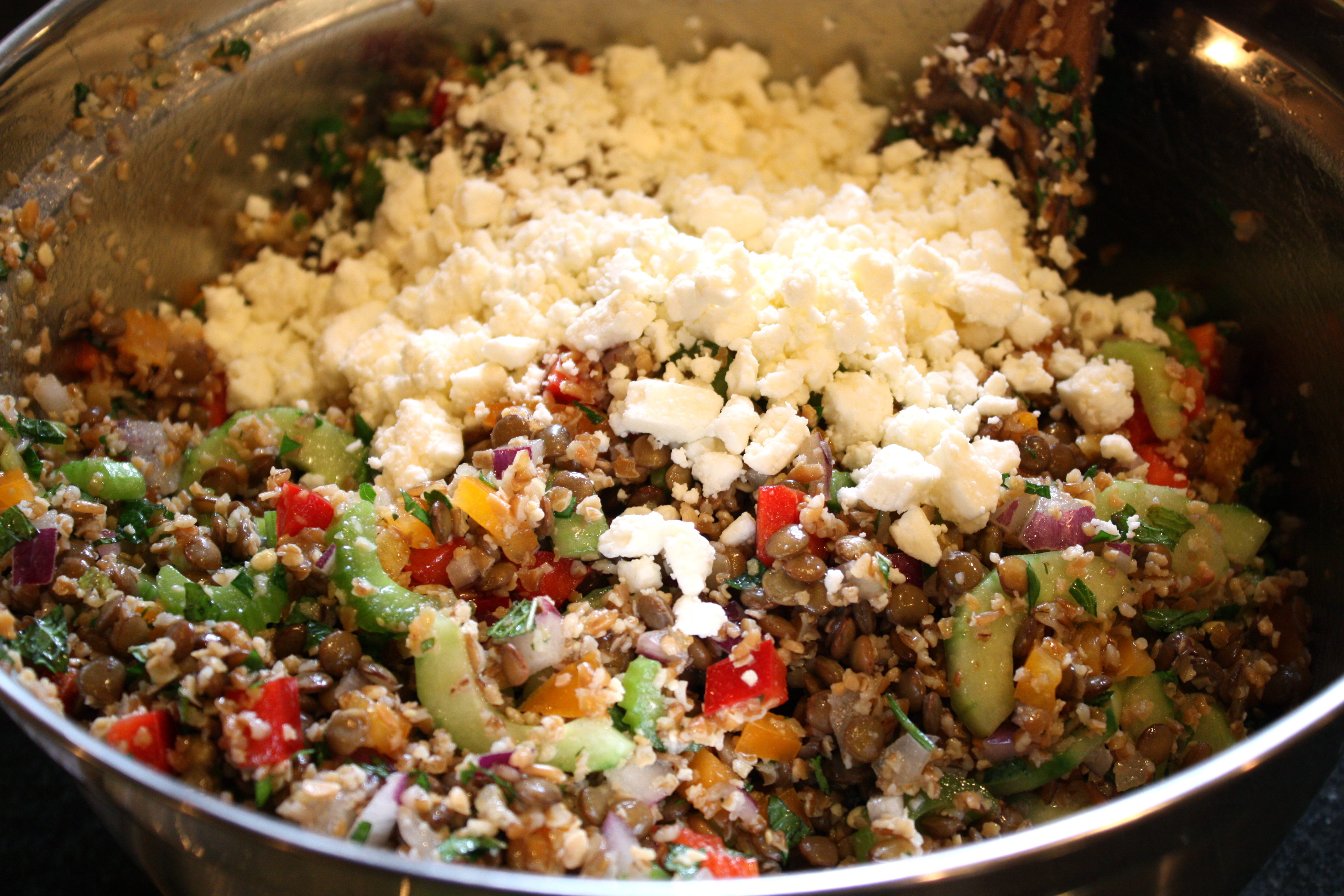 Lentil And Barley Greek-Style Salad With Tomatoes, Feta ...